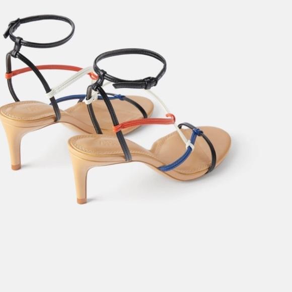 Zara Shoes - Zara multi colored strappy heels